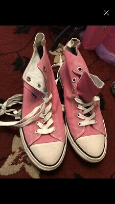 Ladies Size 7 Canvas Shoes Boots Pink Superdry