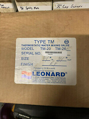 "Leonard Megatron Thermostatic Mixing Valve , 3/4"" Inlets/outlet"