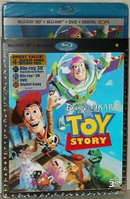 TOY STORY 3D Genuine Disney Pixar 4 Disc Combo Pack in Lenticular Sleeve USA New