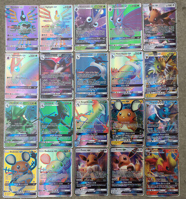 100pcs 40TAG TEAM+60GX Ultra Beast TCG RARE Pokemon Cards kids Gifts Collection