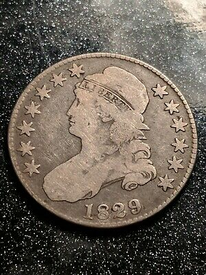 1829 Capped Bust Half Dollar, Early Collector Coin, O-110, R-3, FINE