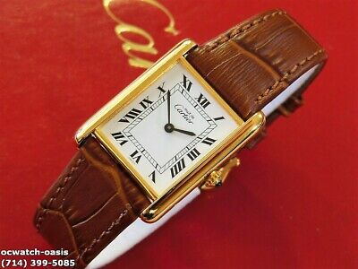 Men's CARTIER TANK Manual Wind, Stunning Dial, Serviced With Warranty