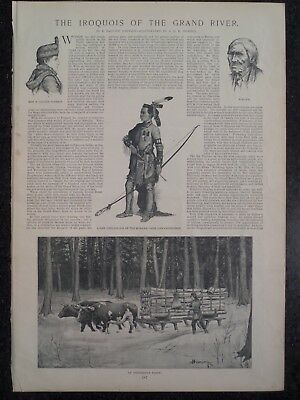 The Iroquois Of Grand River Six Nations Ontario Canada Harper's Weekly 1894