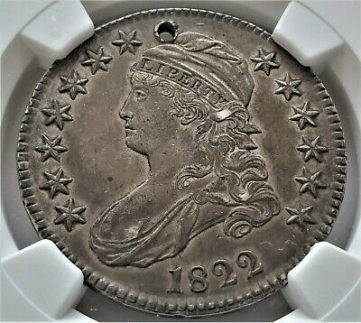 Half Dollar 1822 Capped Bust Rare Date AU / NGC