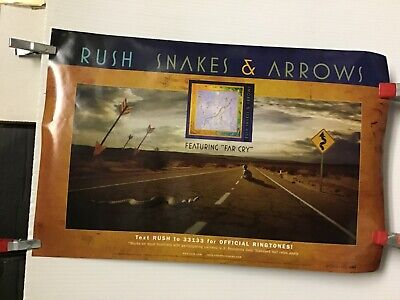 """Rush """"snakes & arrows"""" on tour...  2002 2-sided original promo poster"""