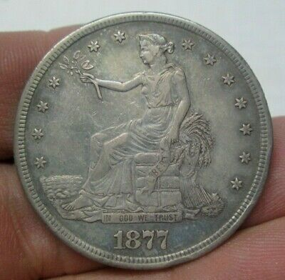 1877-S United States Silver Trade Dollar Extra Fine Condition No Reserve