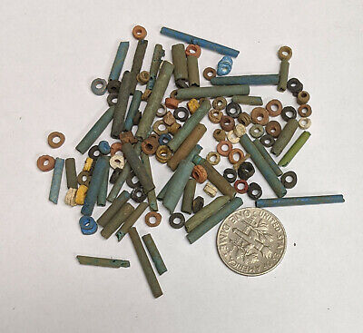 More than a Hundred 2500 Year old Ancient Egyptian Faience Mummy Beads (#L2989)