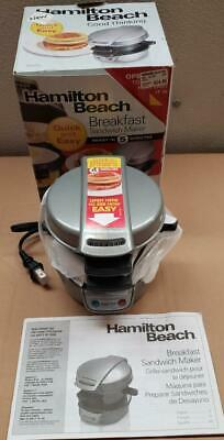 Hamilton Beach 25475 Breakfast Sandwich Maker, New Open Box See Pictures