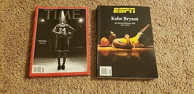 Set of 2 KOBE BRYANT TIME MAGAZINE Mama Forever FEBRUARY 10, 2020 IN HAND Tribut