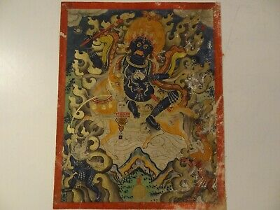 Antique Mongolian Buddhist Thangka Painting A Shri-Devi