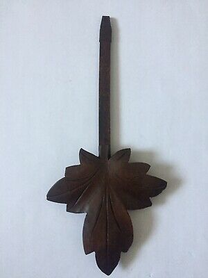 Antique Vintage Carved Black Forest Cuckoo Wall Clock Pendulum