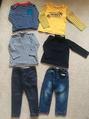 Age 2-3 boys bundle jeans trousers long sleeved tops Primark Mothercare Miniclub