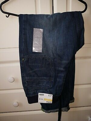 BNWT Boys Denim Jeans Straight Leg and Elasticated waist 13-14 yrs