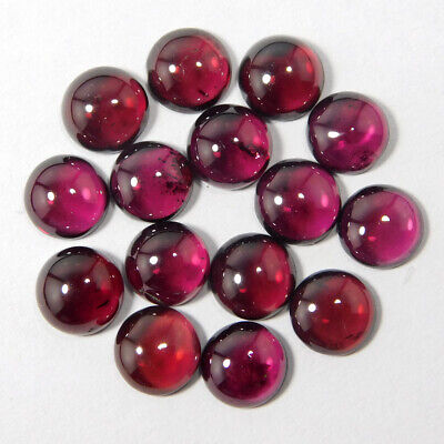 SALE!! Finest Lot Natural Mozambique Garnet 7x7 mm Round Cabochon Loose Gemstone