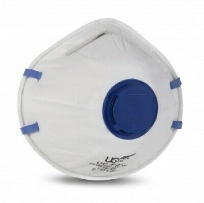 FFP2 P2 Valved Disposable Dust Half Cup Mask Respirator - box of 20 masks