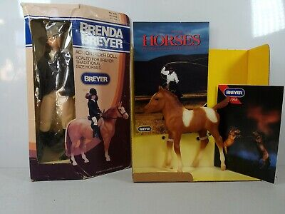 Breyer Horse No. 893 paint horsefoal and Brenda Breyer 499 BAD BOXES BOTH