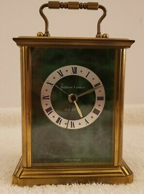 Vintage Working Matthew Norman Brass Victorian Carriage Kundo Quartz Alarm Clock