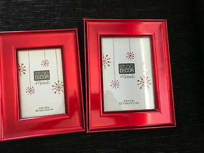 Two Studio Decor Picture Frames Red (Sizes 4x6 And 5x7)