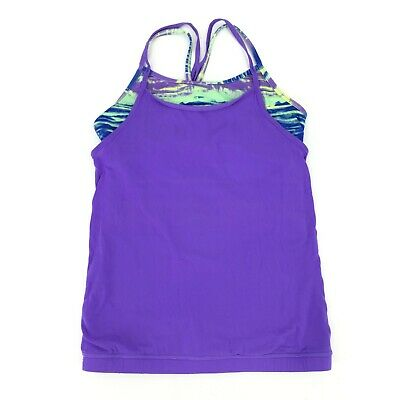 Ivivva by Lululemon Multicolored Dual Layer Athletic Top Girls Size 12