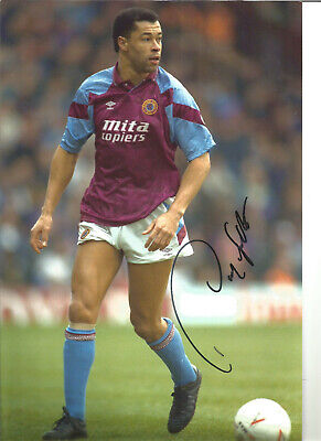 Paul Mcgrath Aston Villa 12 x 8 inch hand signed authentic football photo SS058A
