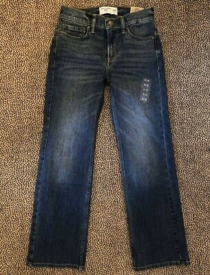 Abercrombie & Fitch Kids Medium-Dark Wash Bootcut Jeans Size 9-10