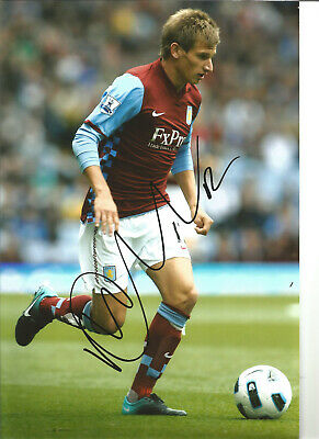 Marc Albrighton Aston Villa 12x8 in hand signed authentic football photo SS060