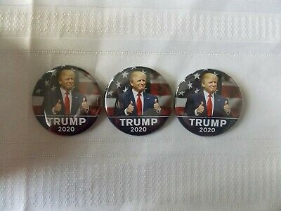 """3 Donald Trump 2020 Election President Campaign Buttons Pins 2 1/4"""" #N80"""