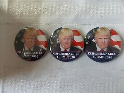 """3 Donald Trump 2020 Election President Campaign Buttons Pins 2 1/4"""" #N82"""
