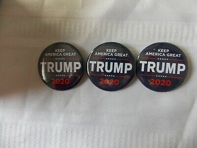 """3 Donald Trump 2020 Election President Campaign Buttons Pins 2 1/4"""" #N83"""
