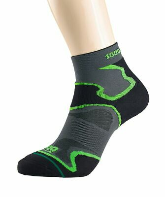 1000 Mile Black/Grey Anti-Blister Breathable Fusion Anklet Socks