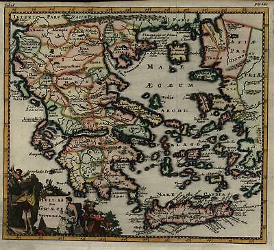 Greek Peninsula Aegean Crete Euboia Macedonia Peloponesus 1711 decorative map