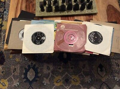 "Attic Found  Job Lot Collection Of 20  7"" Vinyl Singles Single Records Collector"