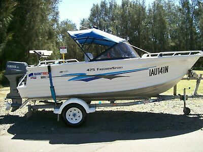 Details about  Quintrex 475 Freedom Sport 2002 Bowrider Cruising/Fishing Alumin