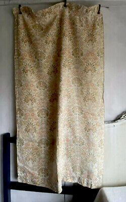 Antique French Fabric Curtains Vintage Floral Linen Textile Home Furnishing 1pc