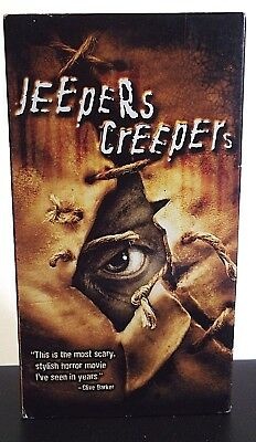 Jeepers Creepers VHS, 2002 Gina Philips, Justin Long, Jonathan Breck
