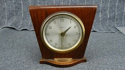 S Bayard Made in France Art Deco Wood Monument Shaped  Alarm Clock - Not Working