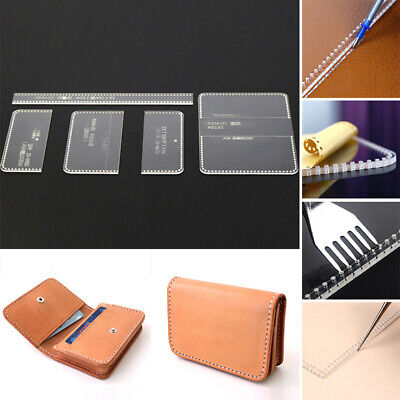 Acrylic Leather Template Pattern For Card Holder Bag Handmade Craft Supplies Lot