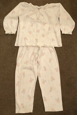 3 Pairs Girls Cotton Little White Company Pyjamas Age 2-3, VG Condition