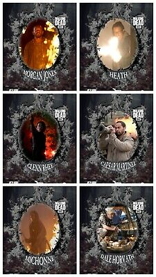 WOOD & FIRE WAVE 3 ASH FIRE DIE-CUT 6 CARD SET Topps WALKING DEAD DIGITAL TRADER