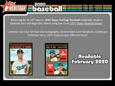 2020 Topps Heritage Complete BASE SET 1-400 READY TO SHIP