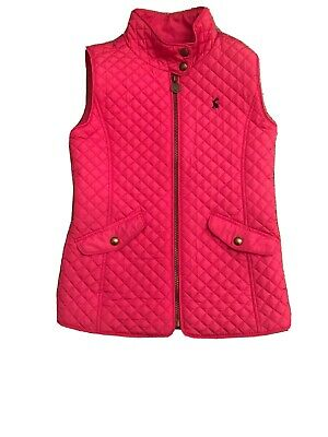 Girls Joules Classic Style Pink Quilted Gilet Age 9-10 years