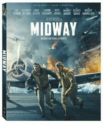 Midway(Blu-Ray+Dvd+Digital) New>>>W/Slipcover<<< Free Shipping!!!