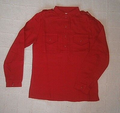 Vintage Ladybird Girls Shirt - Age 8 - Red Warm Fabric - 2 Pockets - New