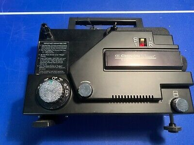 Chinon Whisper  Silent Dual 8 Movie Projector Black 8mm Film