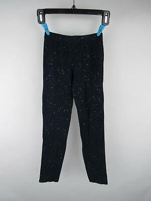 GAP Kids Girl's sz M Blue Cotton Spandex Sparkly Pull-On Fitted Leggings Pants