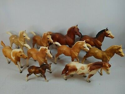 Breyer small horses lot foals, colts, beautiful horse stablemate figures vintage