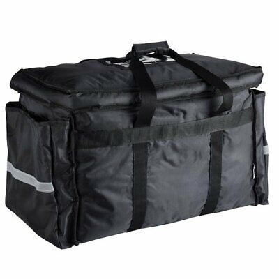 Heavy-Duty Insulated Black Nylon Soft-Sided Food/Pan Delivery Bag22'x13'x16'