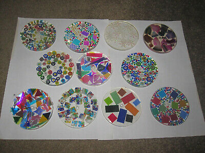 """11 kaleidoscope wheels great variety of colors  3"""" wheels  1/4"""" thick 1/8"""" hole"""