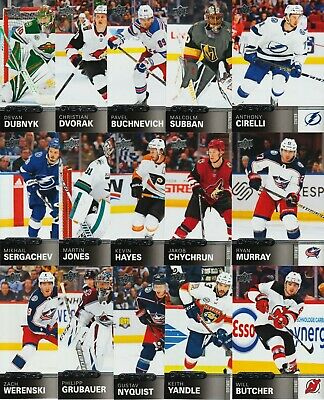 20 Card Lot 19-20 Overtime Wave 2 Hockey Grubauer Cirelli Hayes Werenski 2019-20