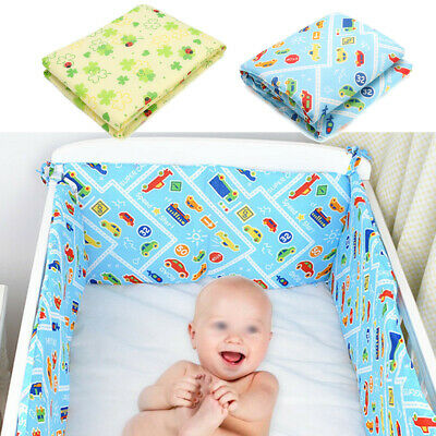 120x30cm Baby Crib Bumper Breathable Cotton Infant Toddler Bed Cot Protector -)